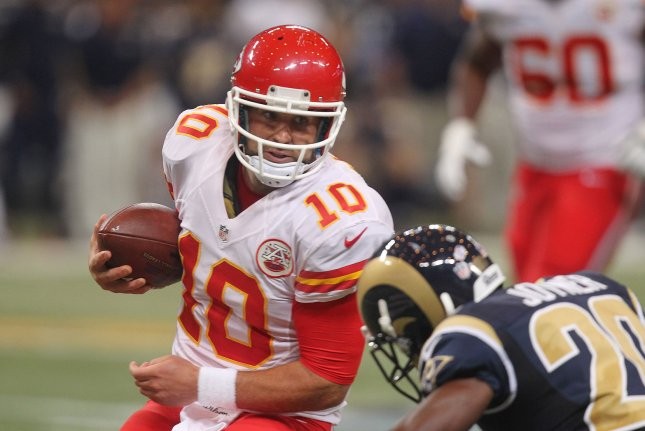 Chicago Bears quarterback Chase Daniel has two career starts. File photo by Bill Greenblatt/UPI