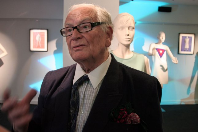 Designer Pierre Cardin is seen during a spring-summer presentation in Paris, France, in 2006. The fashion icon has died at the age of 98, the French Academy of Fine Arts said Tuesday. File Photo by William Alix/UPI
