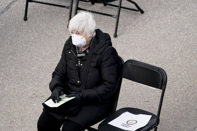 Treasury Secretary-designate Janet Yellen is seen Wednesday while attending the inauguration of President Joe Biden at the U.S. Capitol in Washington, D.C. Photo by Kevin Dietsch/UPI