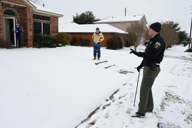 Researchers say that the extreme cold spell in Texas earlier this year -- as pictured in Wylie, Texas, in February -- coincided with the warmest Arctic winter on recrod. File Photo by Ian Halperin/UPI
