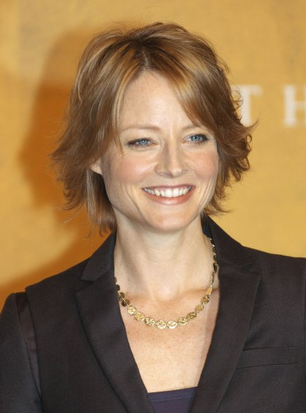 American actress Jodie Foster smiles at a press conference to promote her new film The Brave One in Tokyo, Japan, on October 16, 2007. (UPI Photo/Keizo Mori)