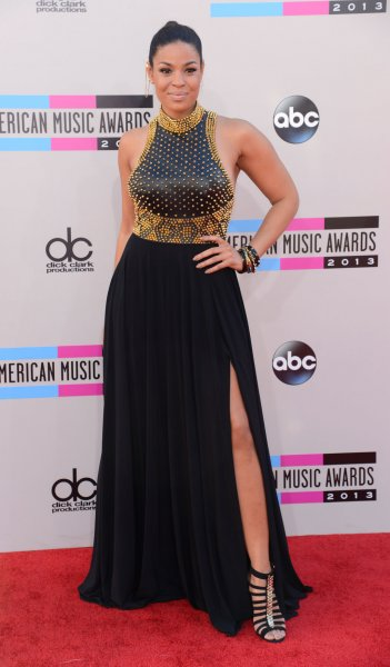 Actress/recording artist Jordin Sparks arrives for the 41st annual American Music Awards held at Nokia Theatre L.A. Live in Los Angeles on November 24, 2013. UPI/Phil McCarten
