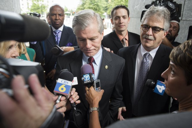 Former Virginia Governor Robert McDonnell arrives for his corruption trial at the U.S. District Court, August 22, 2014 in Richmond, Virginia. McDonnell and his wife Maureen are charged with fourteen different counts relating to their acceptance of more than $135,000 in gifts, loans, trips and other items from businessman Jonnie Williams Sr., in exchange for promoting his company. UPI/Kevin Dietsch