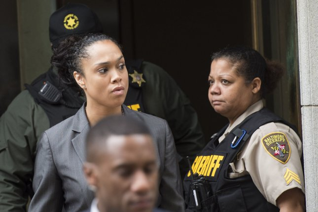Marilyn Mosby, State's Attorney for Baltimore, leaves the courthouse on June 23 after city police officer Caesar Goodson was acquitted on all charges for his involvement in the April 2015 death of Freddie Gray. Wednesday, Mosby dropped all remaining charges against officers involved in Gray's arrest and transport, saying her decision to do so was based on a lack of confidence in obtaining a conviction in any of the outstanding cases. File Photo by Kevin Dietsch/UPI