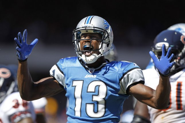 Former Detroit Lions receiver Nate Burleson will replace Bart Scott on CBS's NFL Today show. File photo UPI/Brian Kersey