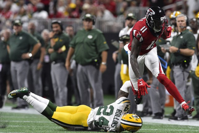 Atlanta Falcons receivers Julio Jones, Mohamed Sanu out with injuries