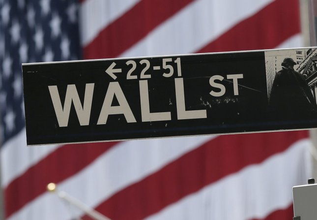 The Dow Jones Industrial Average fell 602 points on Monday, as tech stocks including Apple plummeted. File Photo by John Angelillo/UPI