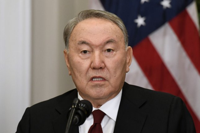 Kazakh President Nursultan Nazarbayev has resigned following 29 years at the helm of his country. Photo by Olivier Douliery/UPI
