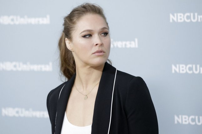 Ronda Rousey suffered a significant finger injury while filming the FOX show 9-1-1. File Photo by John Angelillo/UPI