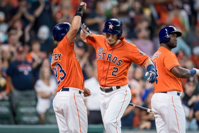 The Houston Astros are the betting favorite to win the 2019 World Series. Photo by Trask Smith/UPI