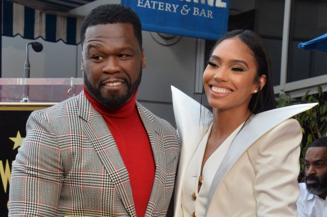 BMF executive producer Curtis 50 Cent' Jackson (L) and his girlfriend Jamira Haines attend an unveiling ceremony honoring Jackson with the 2,686th star on the Hollywood Walk of Fame in January 2020. Starz has released the first teaser for BMF. File Photo by Jim Ruymen/UPI