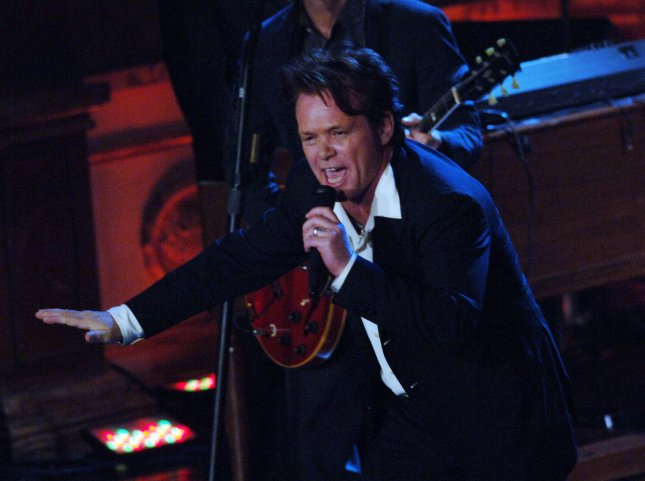 John Mellencamp performs after being inducted into the 2008 Rock and Roll Hall of Fame during ceremonies held at the Waldorf Astoria hotel in New York on March 10, 2008. (UPI Photo/Ezio Petersen)