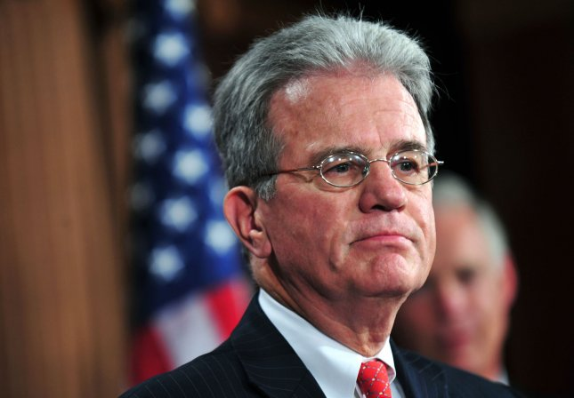 Sen. Tom Coburn (R-OK) speaks on the cut, cap and balance bill during a press conference in Washington on July 21, 2011. UPI/Kevin Dietsch