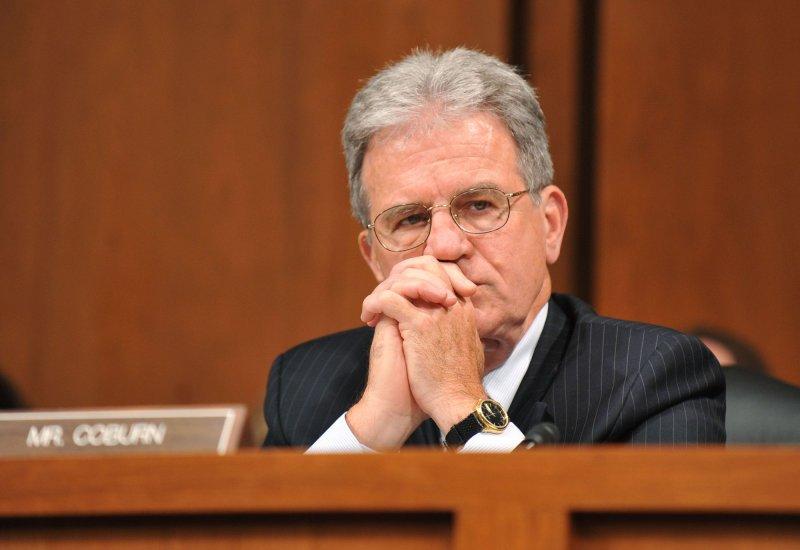 Sen. Tom Coburn (R-OK). (File/UPI/Kevin Dietsch)
