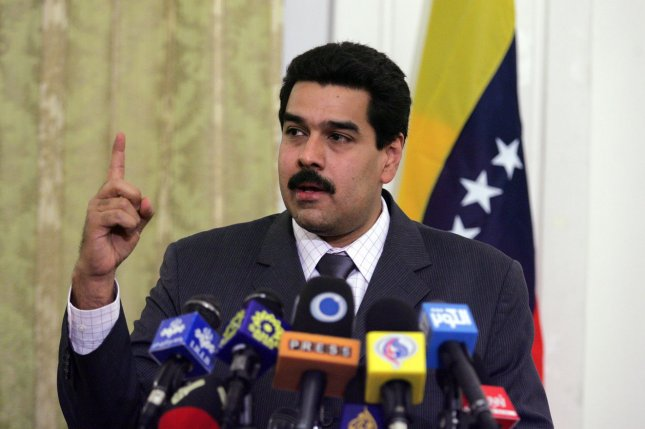 Venezuelan President Nicolas Maduro announced the installation of mandatory fingerprinting at supermarkets in order to curtail hoarding and smuggling. (UPI Photo/Mohammad Kheirkhah)