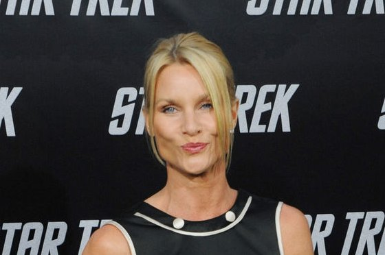 Nicollette Sheridan at the Los Angeles premiere of Star Trek on April 30, 2009. The actress recently filed to end her second marriage. File Photo by Jim Ruymen/UPI