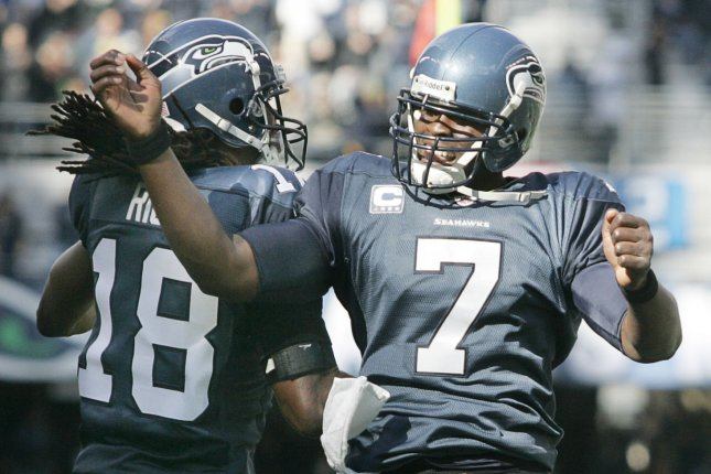 Former Seattle Seahawks quarterback Tarvaris Jackson (7) was working as the quarterbacks coach at Tennessee State before his death Sunday in Alabama. File Photo by Jim Bryant/UPI