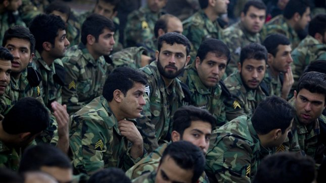 Members of the revolutionary guard in Tehran, Iran. UPI/Maryam Rahmanian