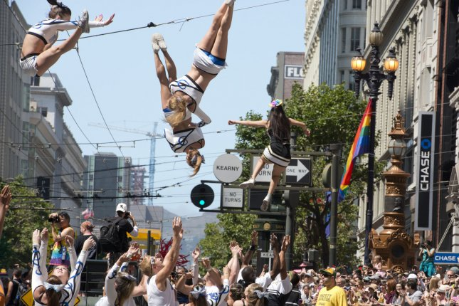 Participants celebrate diversity and recent legislative victories during last year's LGBT Pride Parade in San Francisco, California. President Obama issued a proclamation Friday declaring June LGBT Pride Month in America. UPI/Terry Schmitt