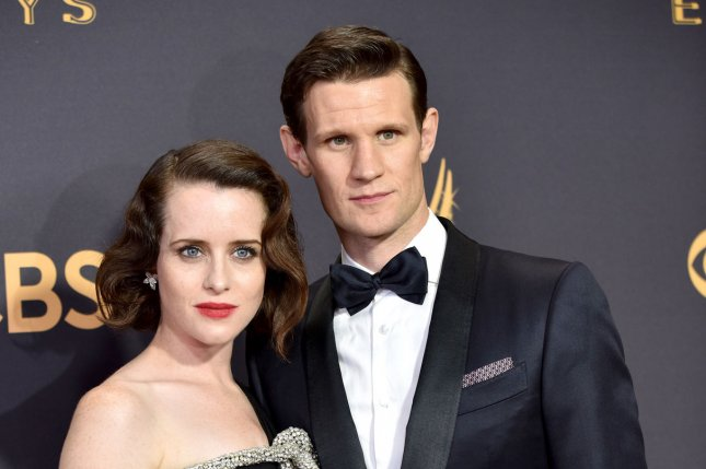 Claire Foy (L) and Matt Smith play Queen Elizabeth II and Prince Phillip in The Crown. File Photo by Christine Chew/UPI