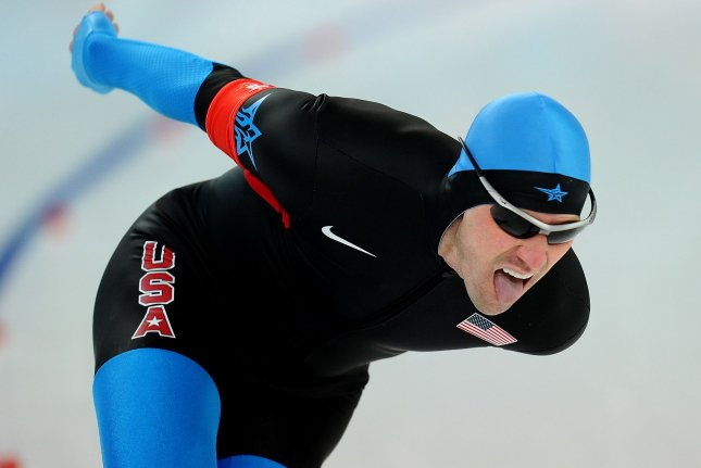 Speed skater Chad Hedrick won five medals in four Winter Olympics for the United States. File photo by Roger L. Wollenberg/UPI.