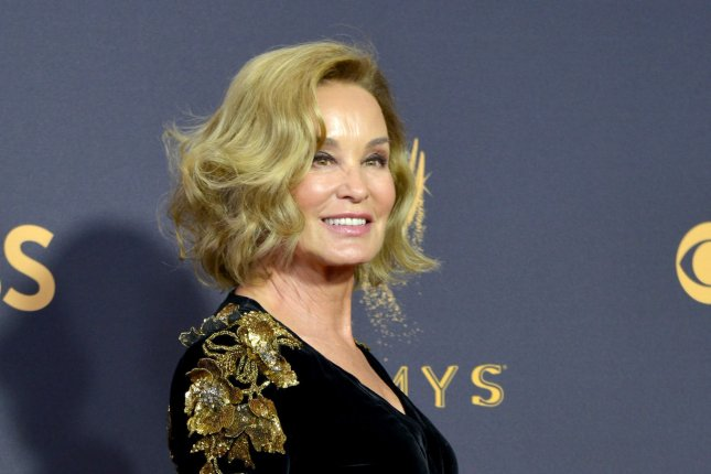 Jessica Lange arrives for the 69th annual Primetime Emmy Awards at Microsoft Theater in Los Angeles on September 17. The actor turns 69 on April 20. File Photo by Christine Chew/UPI