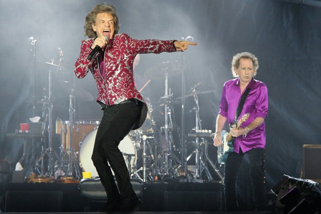 Mick Jagger (L) and Keith Richards ofThe Rolling Stones. The band have announced a new tour for North America. File Photo by Dave Allocca/UPI
