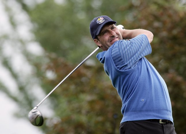 Jose Maria Olazabal, shown competing in the 2006 Ryder Cup, has been elected to the World Golf Hall of Fame, officials said Wednesday. (UPI Photo/Hugo Philpott)