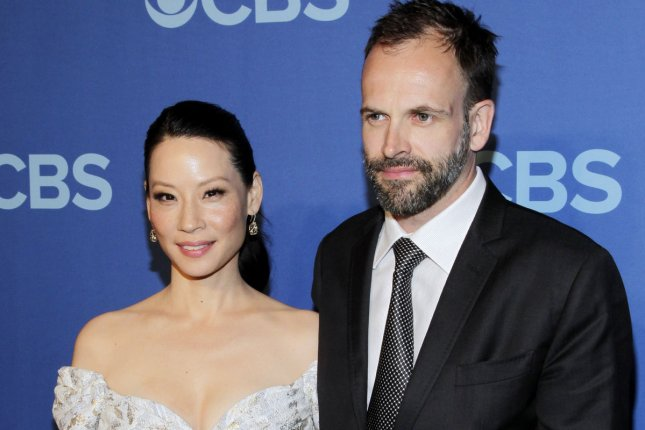 Jonny Lee Miller and Lucy Liu arrive on the red carpet at the 2013 CBS Upfront Presentation at Lincoln Center in New York City on May 15, 2013. UPI/John Angelillo