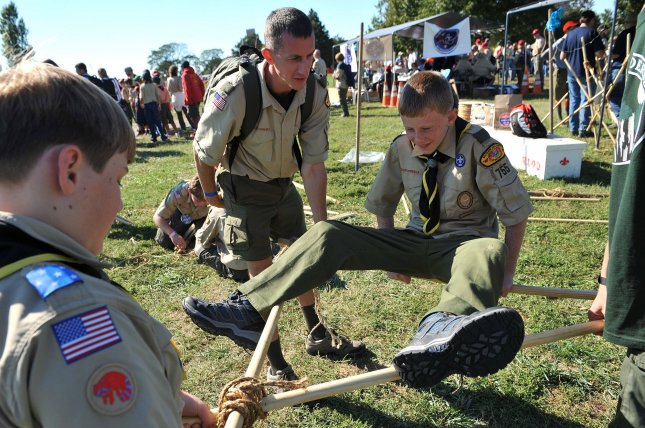The Boy Scouts of America on Monday will end its ban on gay leadership within the organization, but some groups will not be forced to accept election of gay leaders. Membership in the organization has steadily declined in the past decade. File Photo by Kevin Dietsch/UPI