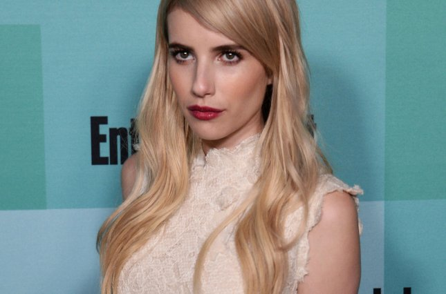 Actress Emma Roberts attends Entertainment Weekly's Comic-Con closing night celebration party in San Diego on July 11. Roberts was spotted leaving dinner with ex-fiance Evan Peters this week. File Photo by Jim Ruymen/UPI