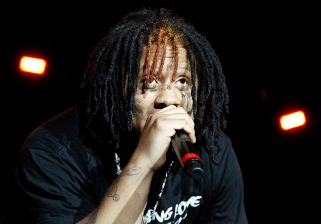 Rapper Trippie Redd has the No. 1 album on the Billboard 200 chart this week. File Photo by James Atoa/UPI