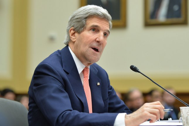 Secretary of State John Kerry testifies during a House Foreign Affairs Committee hearing on President Obama's FY 2015 foreign affairs budget request, March 13, 2014 in Washington, D.C. UPI/Kevin Dietsch.