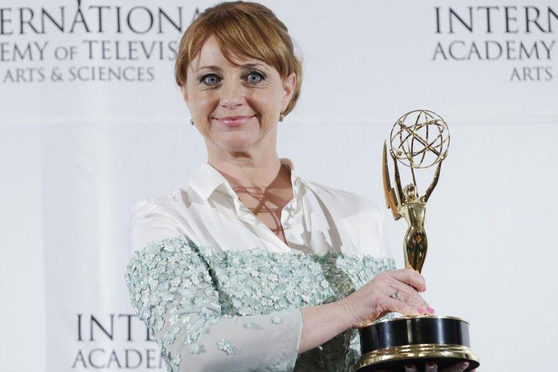 Bianca Krijgsman arrives in the press room at the 2014 International Academy Of Television Arts & Sciences Emmy Awards at New York Hilton in New York City on November 24, 2014. UPI/John Angelillo