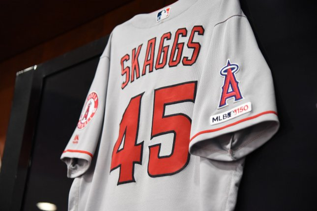 The MLB and players union will begin testing for opioids and cocaine next year in the wake of the death of former Los Angeles Angels pitcher Tyler Skaggs, who was found to have opioids in his system after his death. File Photo by Ian Halperin/UPI