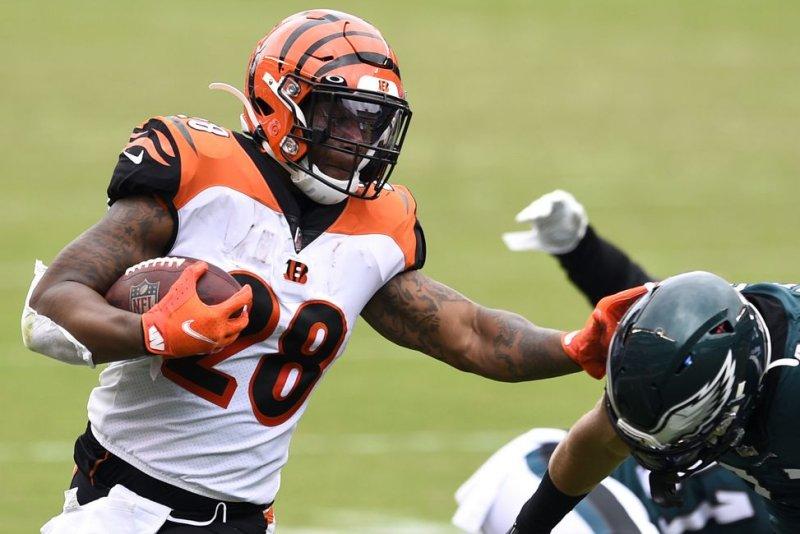 Cincinnati Bengals running back Joe Mixon is my No. 2 option at the position for Week 2. File Photo by Derik Hamilton/UPI