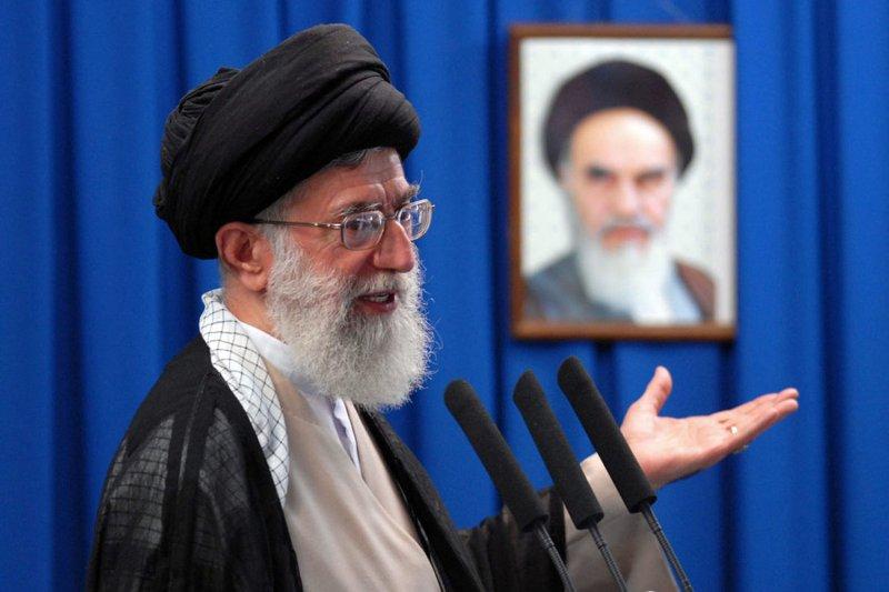 Iran's Supreme Leader Ayatollah Ali Khamenei speaks during Friday Prayer in Tehran, Iran on June 19, 2009. Khamenei warned protesters of a crackdown and said the presidential elections were fair. (UPI Photo/Kamenei Office/HO)