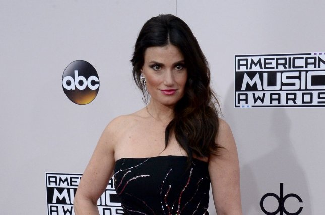 Actress Idina Menzel arrives for the 2016 American Music Awards held at Microsoft Theater in Los Angeles on November 20, 2016. Photo by Jim Ruymen/UPI