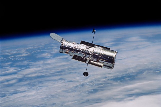 The Hubble Space Telescope celebrated its 28th birthday this month, having delivered images of faraway stars and star systems and greatly expanded scientists' understanding of the universe since it's launch on April 19, 1990. File Photo by NASA/UPI