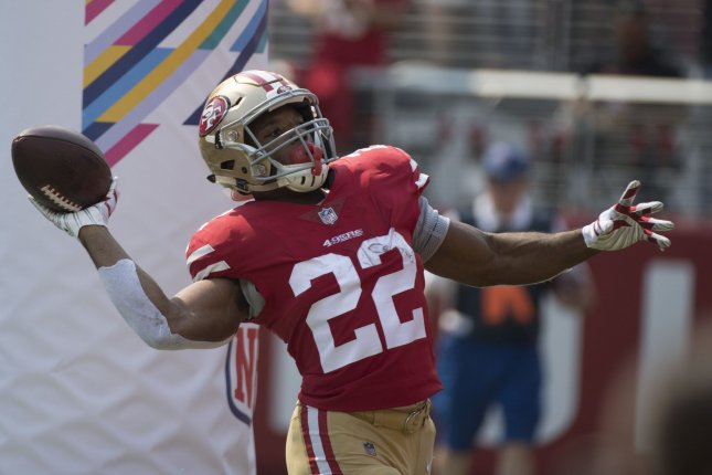 release date: 91b53 e45c8 49ers RB Matt Breida to have MRI on ankle - UPI.com