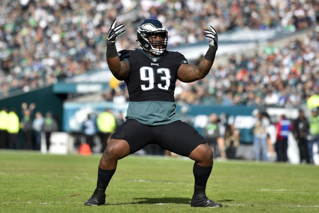 Former Philadelphia Eagles defensive tackle Timmy Jernigan agreed to a one-year contract with the Houston Texans earlier this off-season. File Photo by Derik Hamilton/UPI