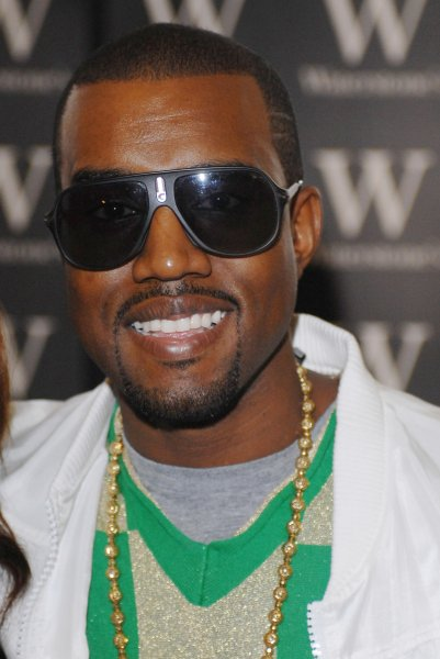 American hip-hop star Kanye West attends a signing of Donda West's memoir Raising Kanye at Waterstone's, Piccadilly in London on June 30, 2007. (UPI Photo/Rune Hellestad)