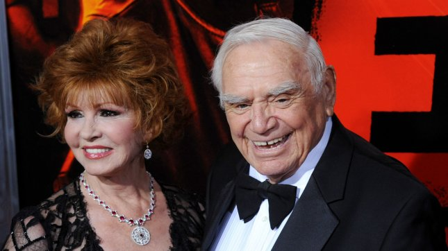 Cast member Ernest Borgnine and his wife Tova attend the premiere of the motion picture action comedy Red, at Grauman's Chinese Theatre in the Hollywood section of Los Angeles on October 11, 2010. UPI/Jim Ruymen