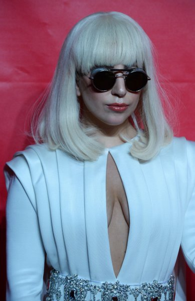 Singer Lady Gaga attends the MusiCares Person of the Year gala honoring singer and songwriter Carole King at the Los Angeles Convention Center in Los Angeles on January 24, 2014. UPI/Jim Ruymen