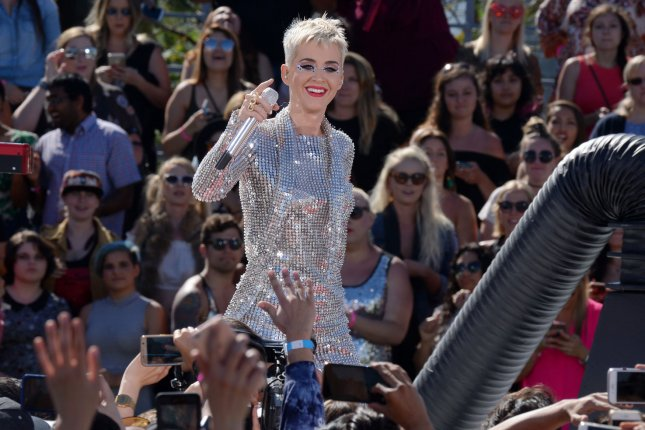 Katy Perry attends the Witness World Wide YouTube live-stream concert on June 12. The singer discussed her new look in the September issue of W. File Photo by Jim Ruymen/UPI
