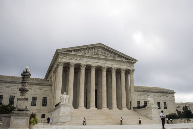 The Supreme Court returned Monday to a slate of cases to review. File Photo by Kevin Dietsch/UPI