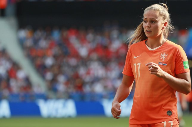 Lieke Martens led the Netherlands into the 2019 FIFA Women's World Cup final, before falling to the United States Women's National Team July 7 in Lyon, France. Photo by David Silpa/UPI