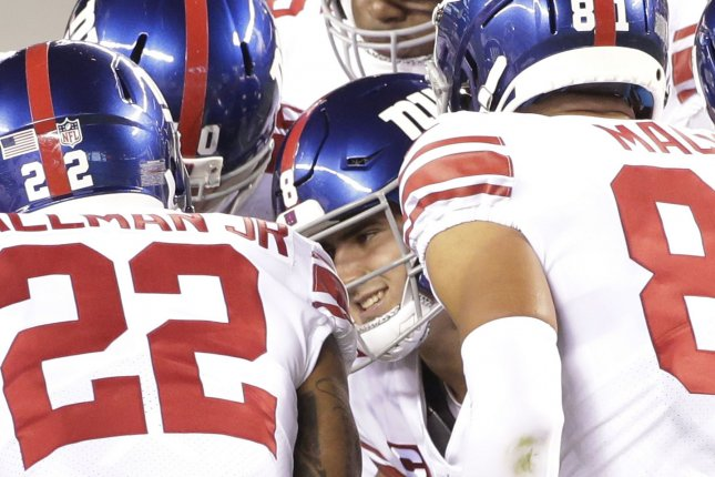 The New York Giants have had three coaches test positive for COVID-19 this season. File Photo by John Angelillo/UPI