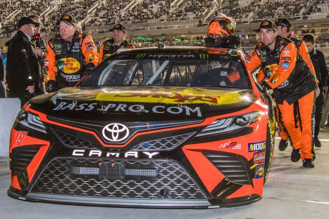 Martin Truex Jr. became the first NASCAR Cup Series driver to win two races this season with his victory Sunday at Martinsville Speedway in Martinsville, Ga. File Photo by Edwin Locke/UPI