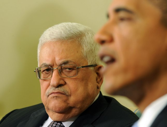 U.S. President Barack Obama speaks to the media after meeting with Palestinian President Mahmoud Abbas in the Oval Office of the White House in Washington on June 9, 2010. UPI/Roger L. Wollenberg
